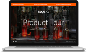 Laptop screen with Product Tour page