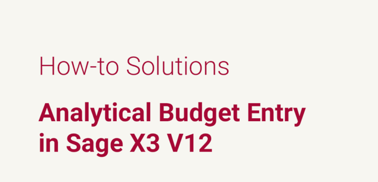 Analytical Budget